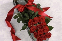 1 DOZEN PREMIUM RED ROSES IN A BOX $95.00